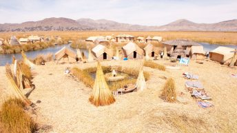 Uros Islands on Lake Titicaca: life on a floating island for Peruvian Indians